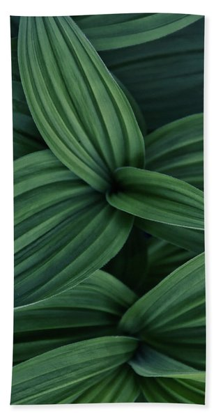 False Hellebore Plant Abstract Bath Towel