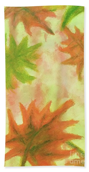 Fanciful Fall Leaves Hand Towel