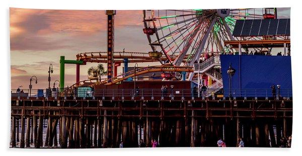 Ferris Wheel On The Pier - Square Hand Towel