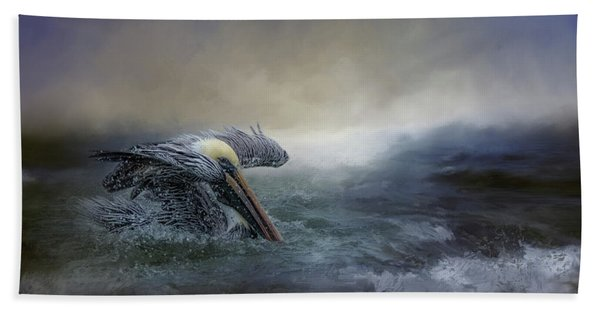 Fishing In The Storm Bath Towel