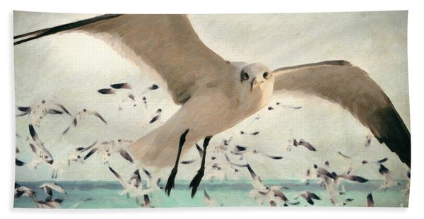 Flight Of The Gulls Hand Towel