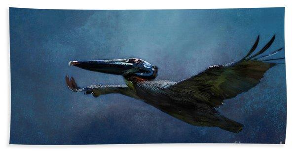 Flight Of The Pelican Hand Towel