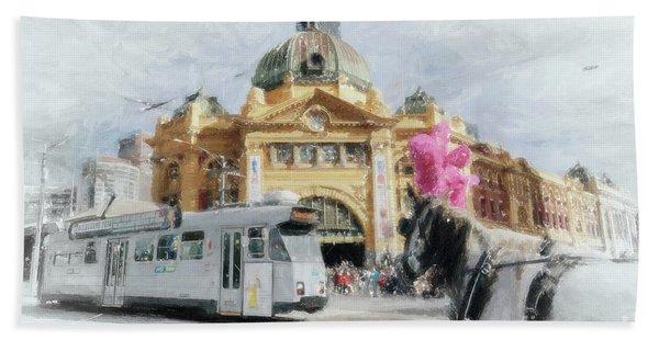 Flinders Street Station, Melbourne Bath Towel