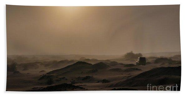 Foggy Morning In The Namib Desert Bath Towel