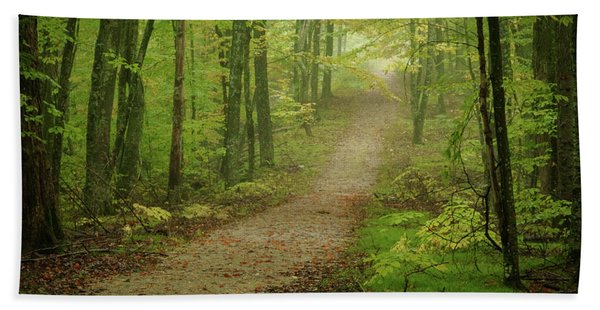 Foggy Path Hand Towel