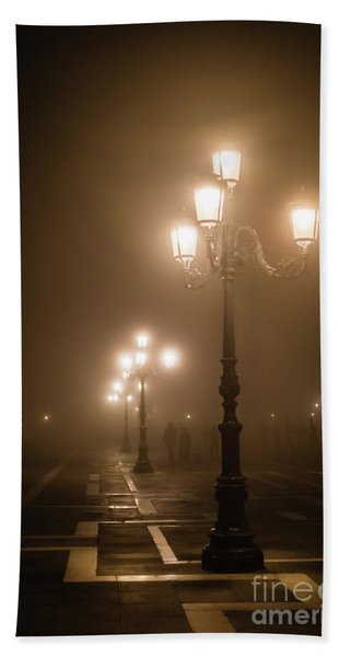 Foggy Piazza San Marco, Venice Hand Towel