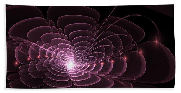 Bath Towel featuring the digital art Fractal Rose by Bee-Bee Deigner