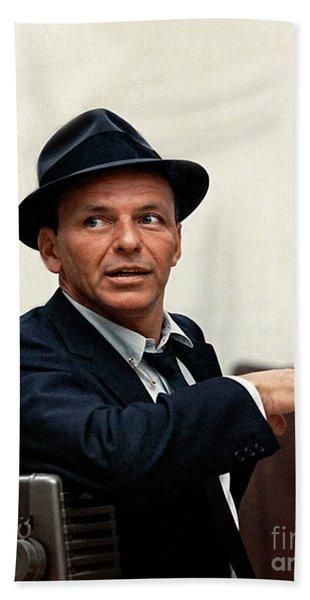 Frank Sinatra At Capitol Records, 1953 Hand Towel