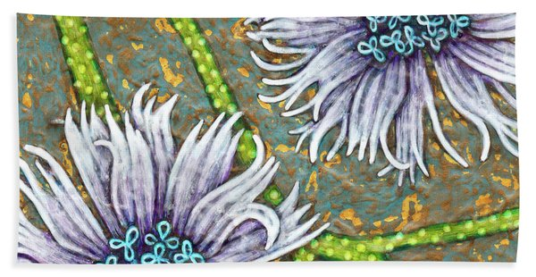 Bath Towel featuring the painting Garden Room 29 by Amy E Fraser