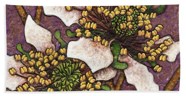 Bath Towel featuring the painting Garden Room 44 by Amy E Fraser