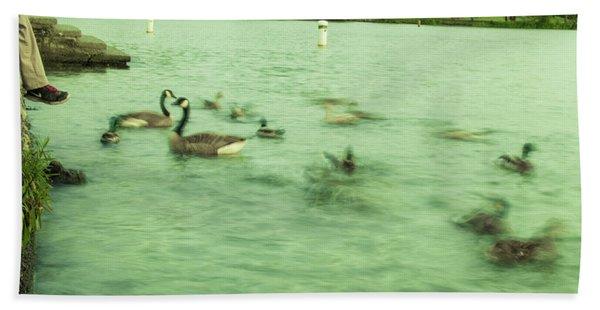 Ghost Ducks Hand Towel