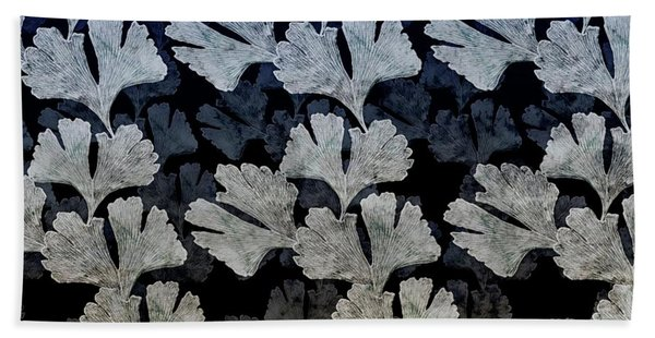 Ginko Leaf Pattern Hand Towel