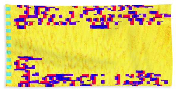 Bath Towel featuring the digital art Glitched Love by Bee-Bee Deigner