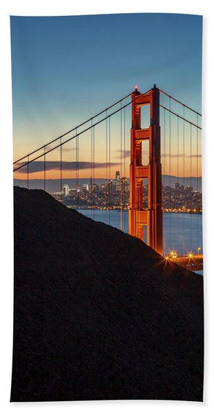 Golden Gate Christmas Glow Bath Towel