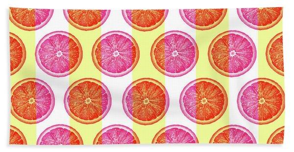 Grapefruit Slice Pattern 1 - Tropical Pattern - Tropical Print - Lemon - Orange - Fruit - Tangerine Hand Towel