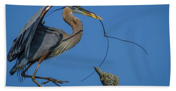 Great Blue Heron 4034 Bath Towel