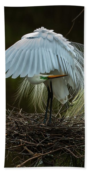 Great Egret Beauty Bath Towel