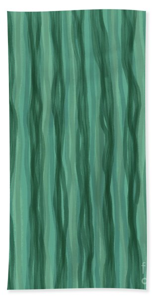 Green Stripes Bath Towel