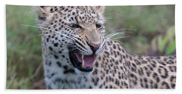 Grimacing Leopard Hand Towel