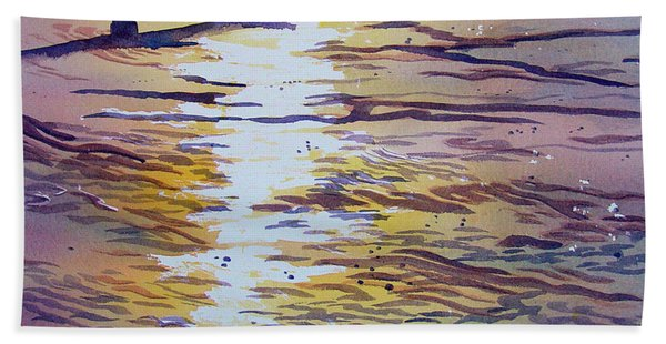 Groynes And Glare Hand Towel