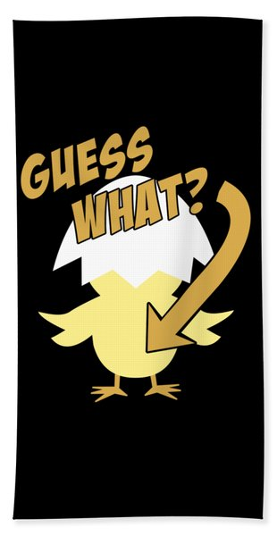 Guess What Chicken Butt Funny Hand Towel