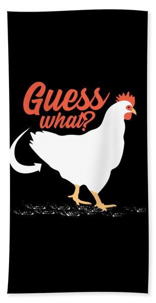 Guess What Chicken Butt Hand Towel