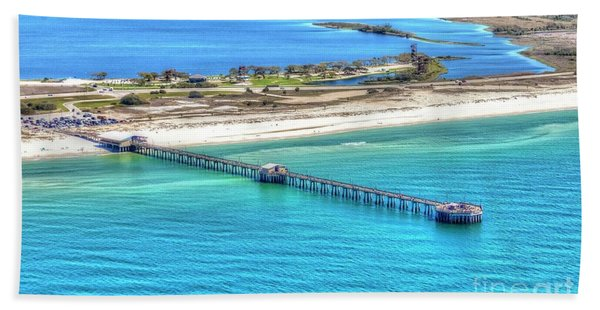 Gulf State Park Pier 7464p3 Hand Towel