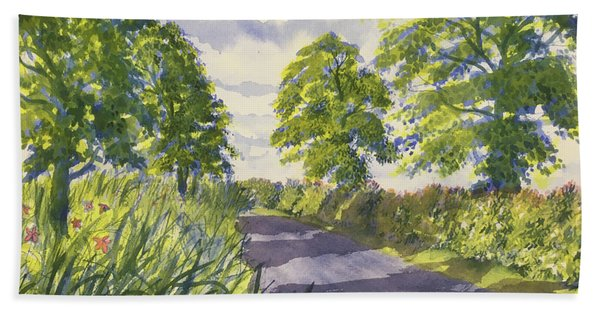 Hedgerows On Rudston Road Hand Towel