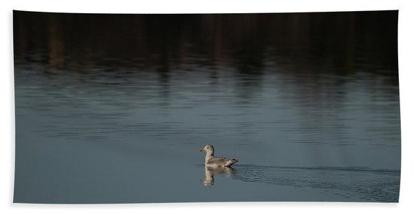 Herring Gull Bath Towel