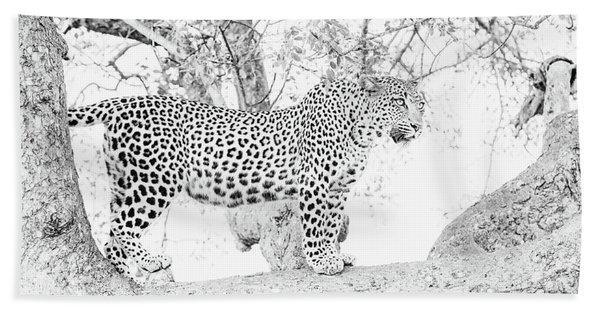 High Key Leopard Hand Towel