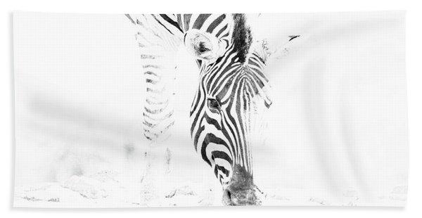 High Key Zebra Drinking Hand Towel