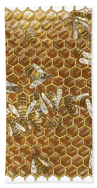 Honey Bees Bath Towel
