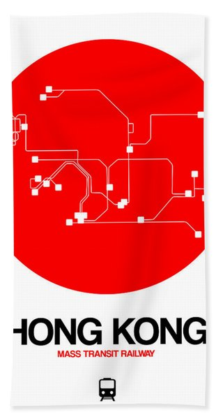 Hong Kong Red Subway Map Hand Towel