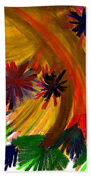 Bath Towel featuring the pastel Improvisation #74 by Bee-Bee Deigner