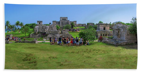 In The Footsteps Of The Maya Bath Towel