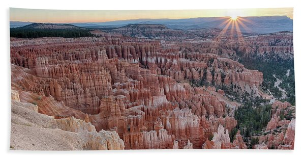 Inspiration Point Sunrise Bryce Canyon National Park Summer Solstice Bath Towel
