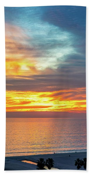 January Sunset - Vertirama Hand Towel