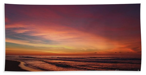 Jersey Shore Sunrise Bath Towel