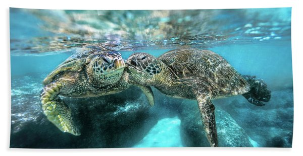 Kissing Turtle Hand Towel