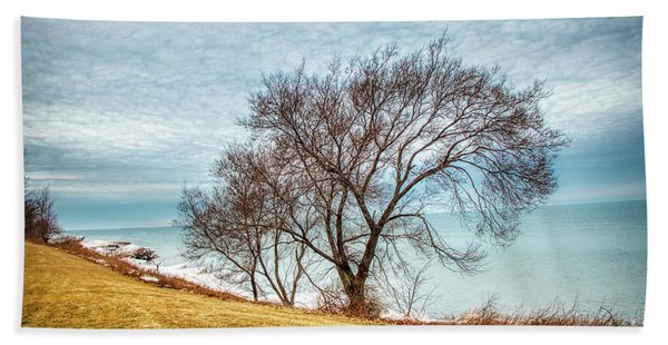 Lakeshore Lonely Tree Bath Towel
