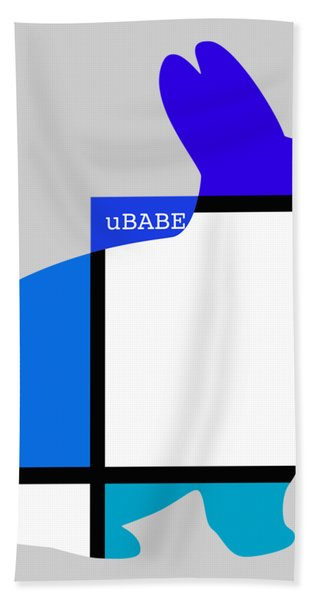 Lapin Agile Blue Bath Towel