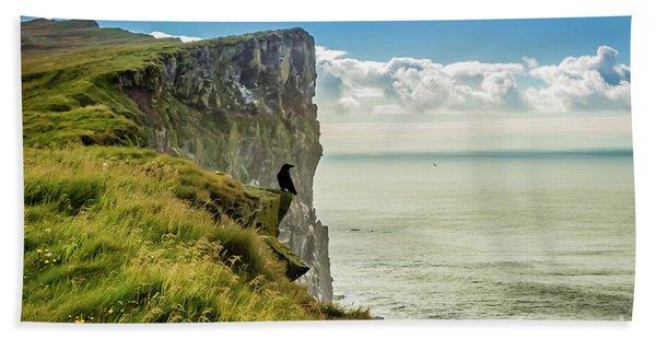 Latrabjarg Cliffs, Iceland Bath Towel