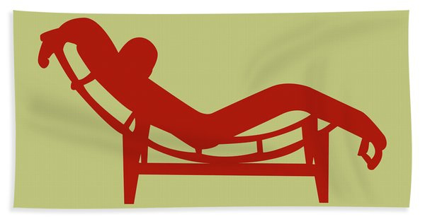 Le Corbusier Chaise Lounge Chair Hand Towel