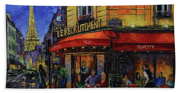 Le Recrutement Cafe Paris Bath Towel
