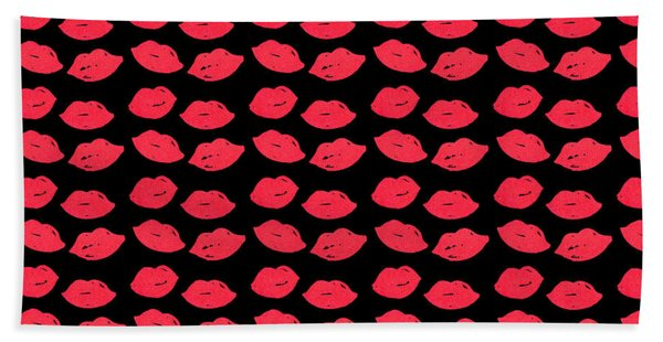 Bath Towel featuring the digital art Lips by Bee-Bee Deigner