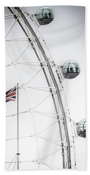 London Eye And Union Jack Hand Towel