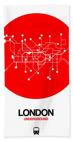London Red Subway Map Hand Towel