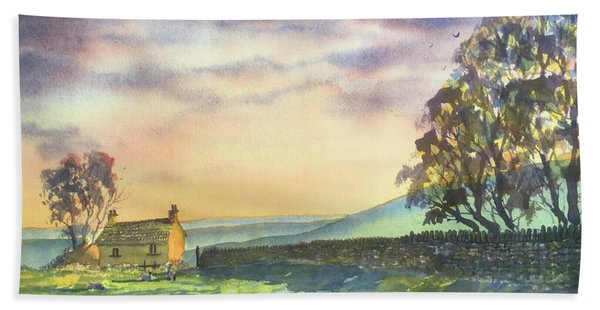 Long Shadows At Sunset Hand Towel