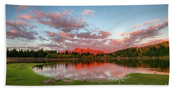 Lost Lake Sunset Hand Towel