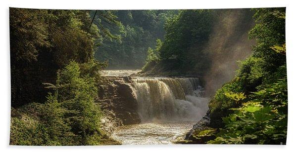 Lower Falls Letchworth State Park Bath Towel